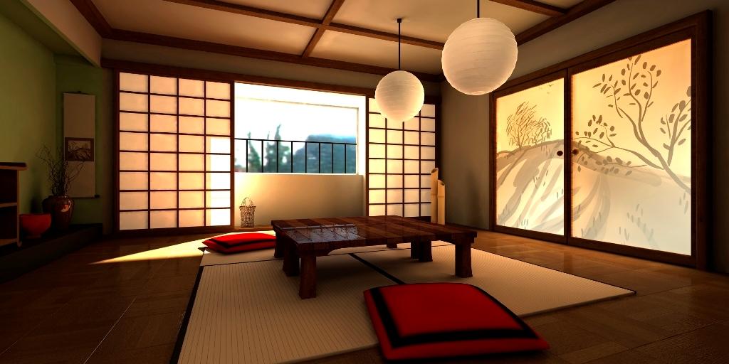 Интерьер в японском стилкак